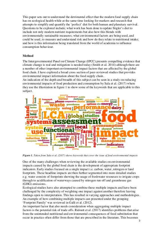Sewell z5052418 final research report linking health and sustainable food production Slide 3