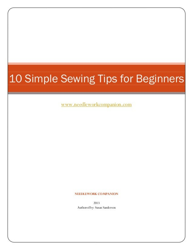 Simple sewing tips for beginners for Tips for going minimalist