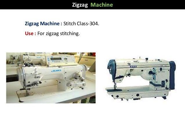 Zigzag Machine : Stitch Class-304. Use : For zigzag stitching. Zigzag Machine