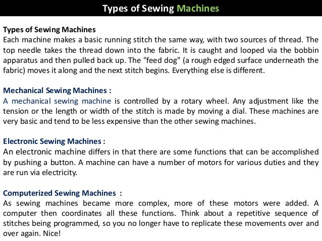 Sewing Machine New Parts Of Sewing Machine And Their Meanings