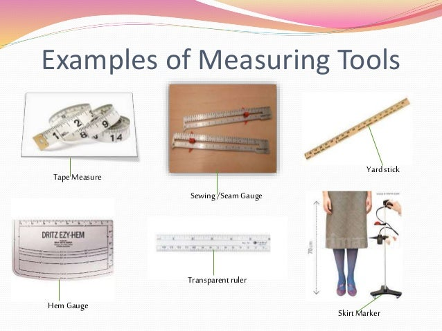 Examples Of Measurement Instruments : Sewing tools powerpoint