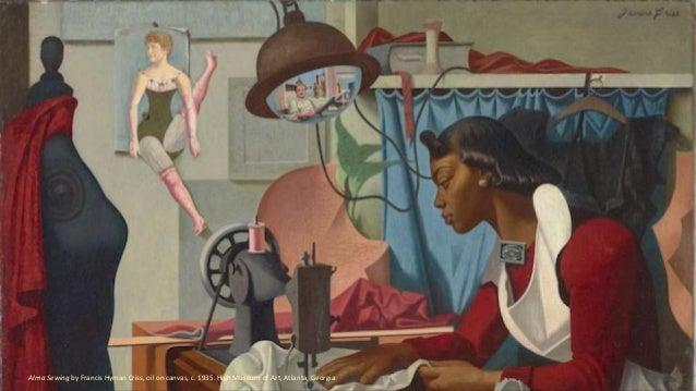 Alma Sewing by Francis Hyman Criss, oil on canvas, c. 1935. High Museum of Art, Atlanta, Georgia