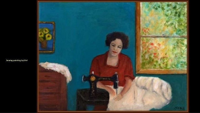Sewing painting by Shrl