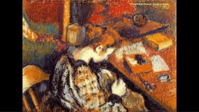 """""""Young Woman Sewing"""". Georges Lemmen"""