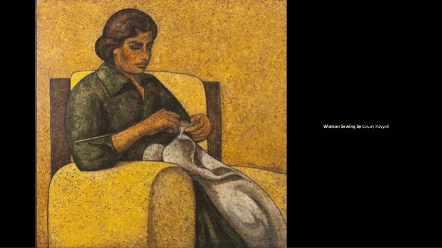 Woman Sewing by Louay Kayyali