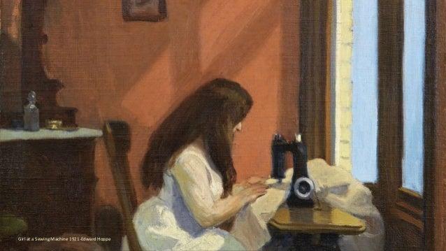 Girl at a Sewing Machine 1921-Edward Hoppe