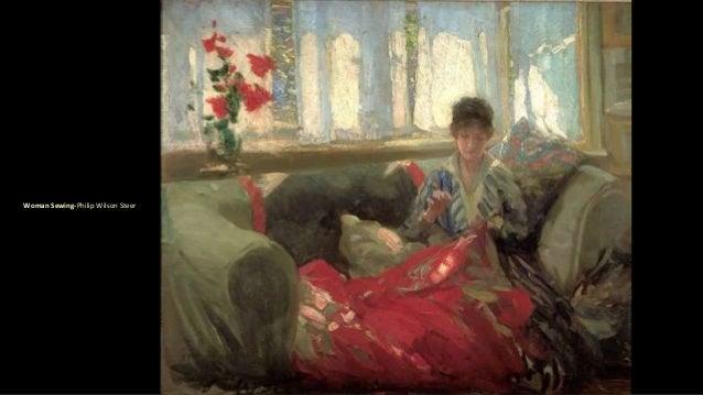Woman Sewing-Philip Wilson Steer
