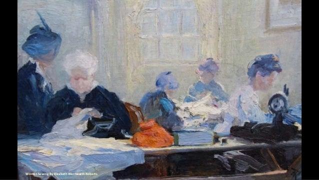Women Sewing By Elizabeth Wentworth Roberts