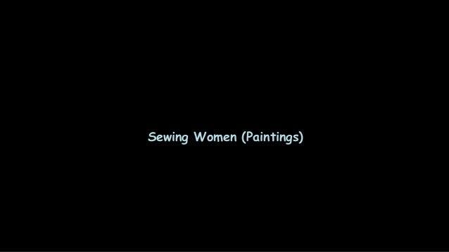 Sewing Women (Paintings) Slide 3