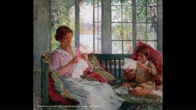 Willard Leroy Metcalf (1858-1925)-My Wife and Daughter (1917-1918)