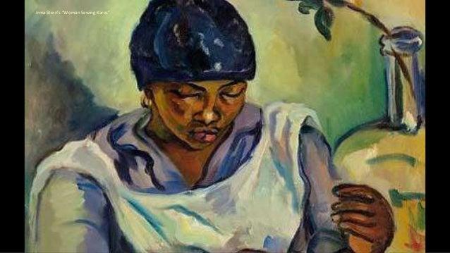 """Irma Stern's """"Woman Sewing Karos"""""""