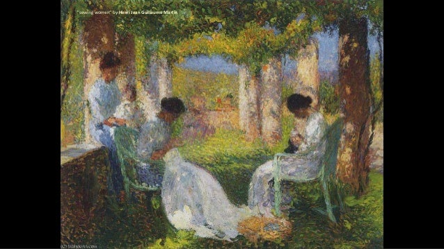 """""""sewing women"""" by Henri Jean Guillaume Martin"""