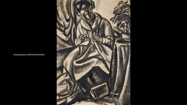 Sewing woman 1918-1919 Uitz Béla