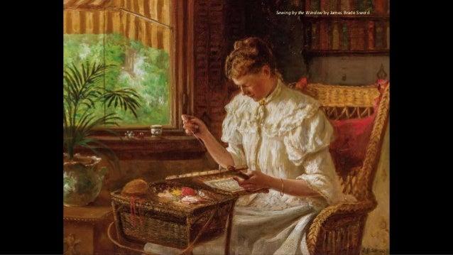Sewing by the Window by James Brade Sword