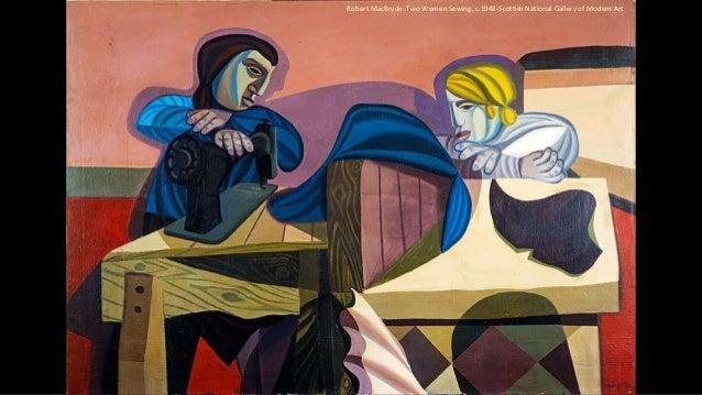 Robert MacBryde: Two Women Sewing, c.1948-Scottish National Gallery of Modern Art
