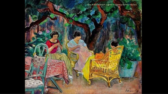 Three Women Sewing in a Garden is a painting by Henri Lebasque