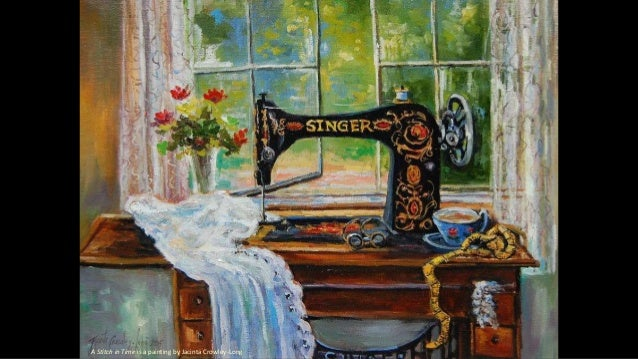 A Stitch in Time is a painting by Jacinta Crowley-Long