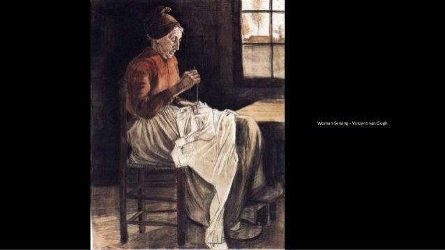 Woman Sewing - Vincent van Gogh