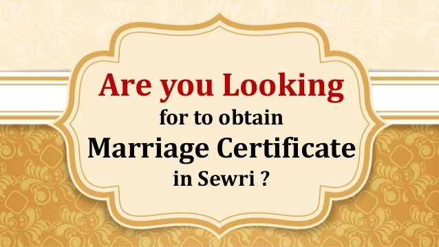 Apply Marriage Certificate online in Sewri,Wadala .Contact :Pooja Ma…