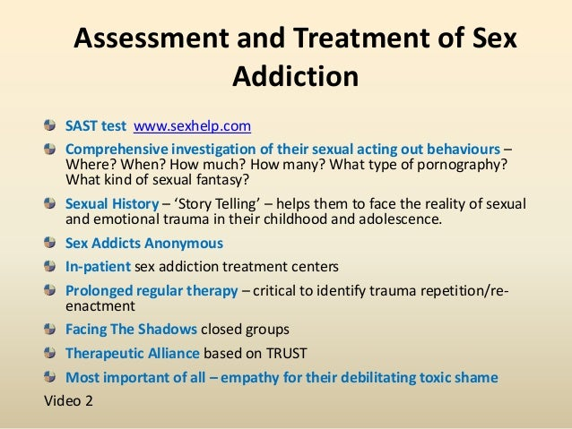Symptoms of sex addiction in men