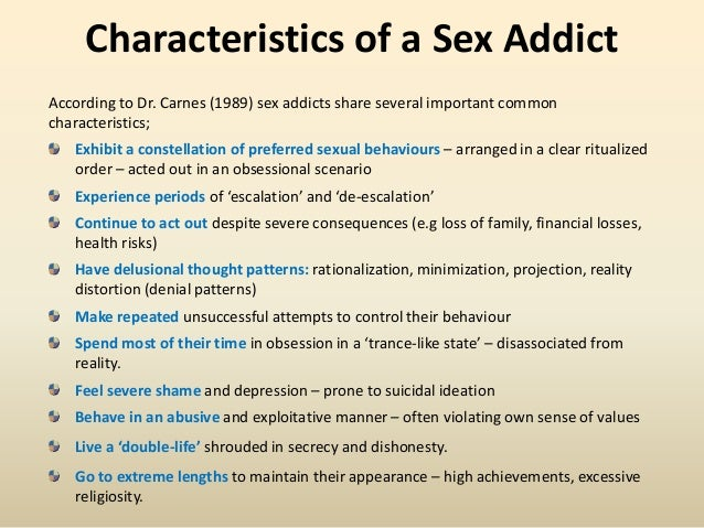 Definition of a sex addict