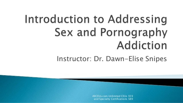 Sexual addiction counseling certification