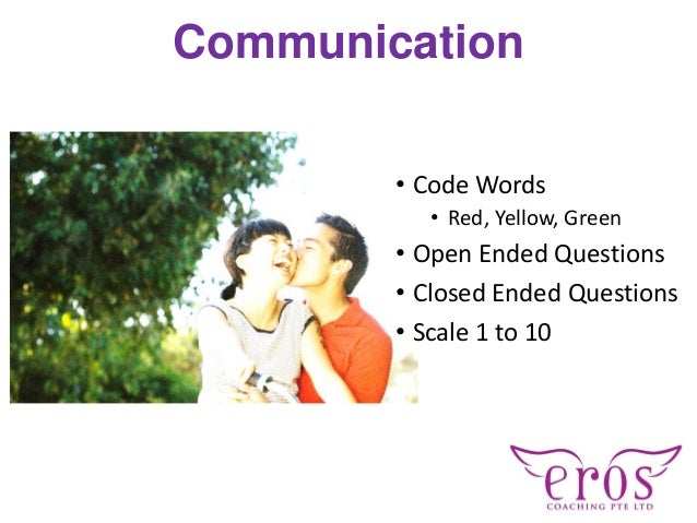 Communication • Code Words • Red, Yellow, Green • Open Ended Questions • Closed Ended Questions • Scale 1 to 10