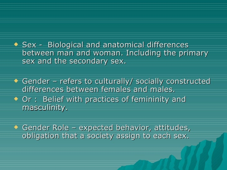 the differences between the male and female roles in the society