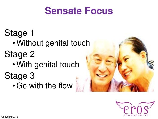Sensate Focus Stage 1 •Without genital touch Stage 2 •With genital touch Stage 3 •Go with the flow Copyright 2018