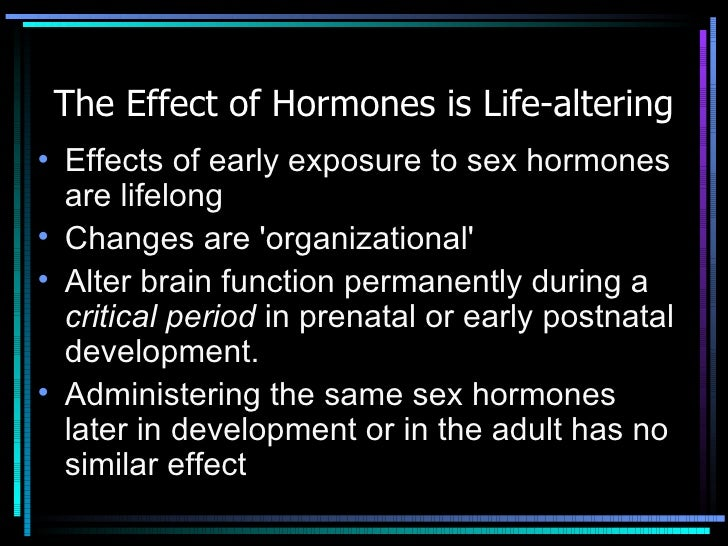Effects of early sex