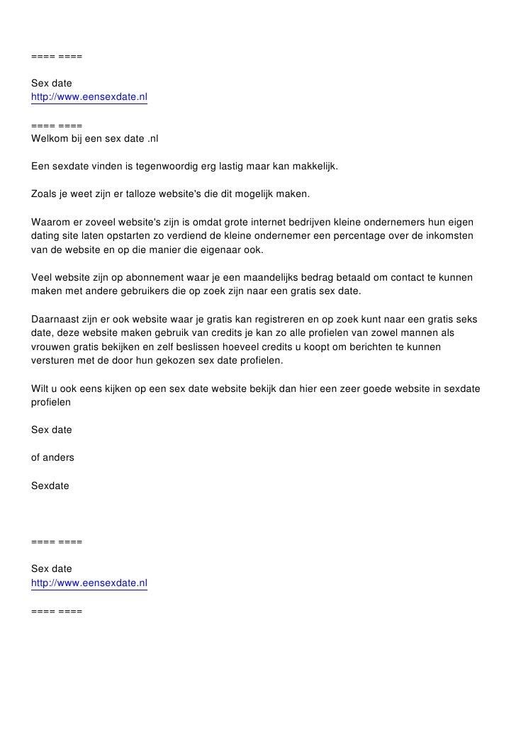 korte seks date nl