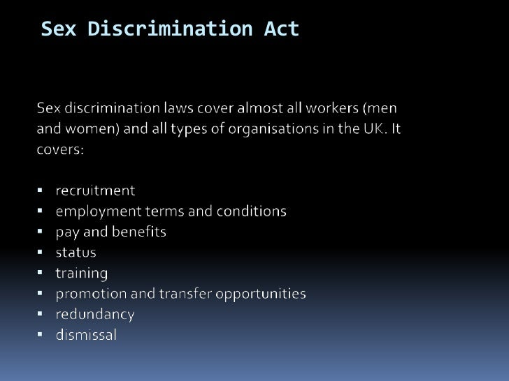 Sex discrimination law uk