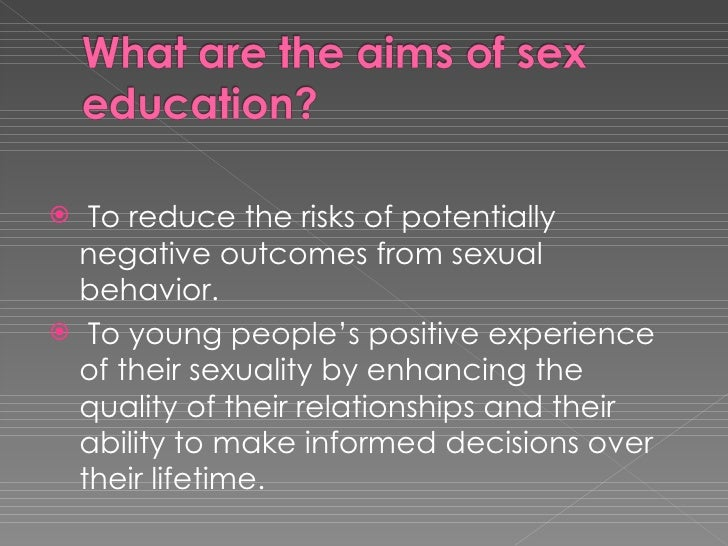 Positive effects of sexuality