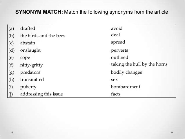 sex-synonyms