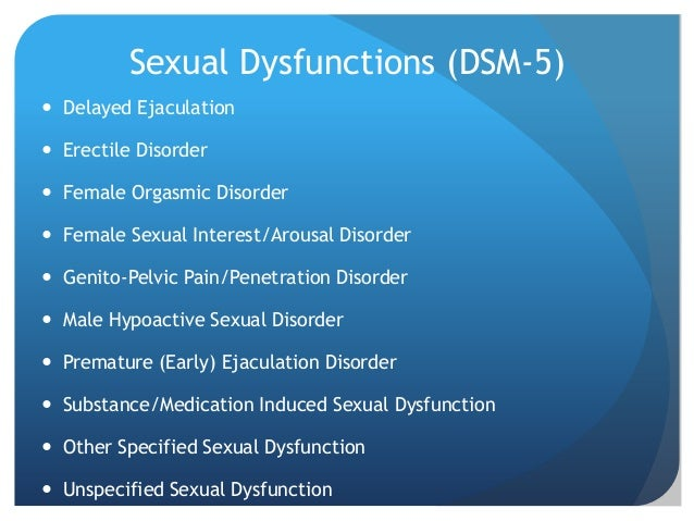 Sexual dysfunction disorders ppt