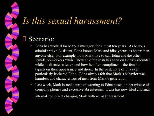 Sexual harassment scenario