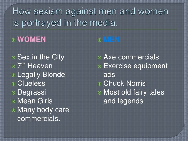 Sexism against men in the media