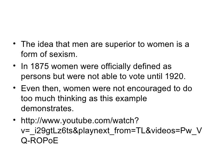 sexism presentation