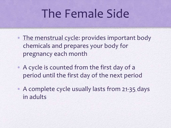 Sex on first day of period