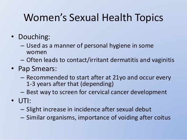 Other sexual health topics