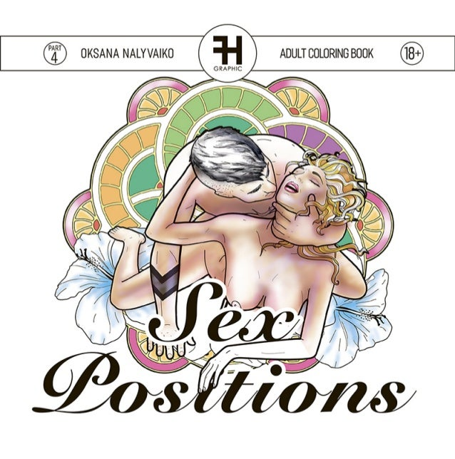 "Adult Coloring Book ""Sex positions"" 18+"