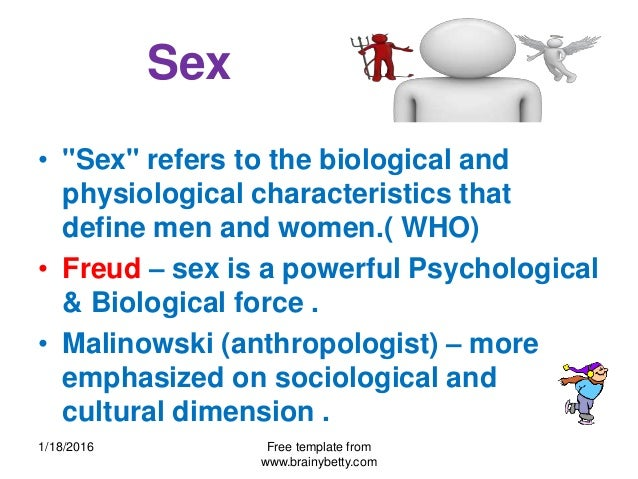 Sex and psychology