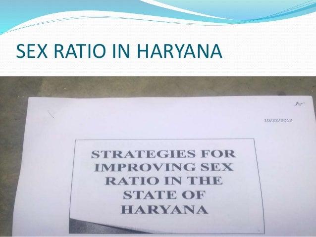 SEX RATIO IN HARYANA