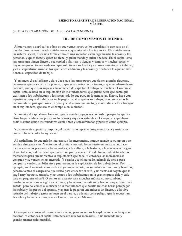 1                                    EJÉRCITO ZAPATISTA DE LIBERACIÓN NACIONAL.                                           ...