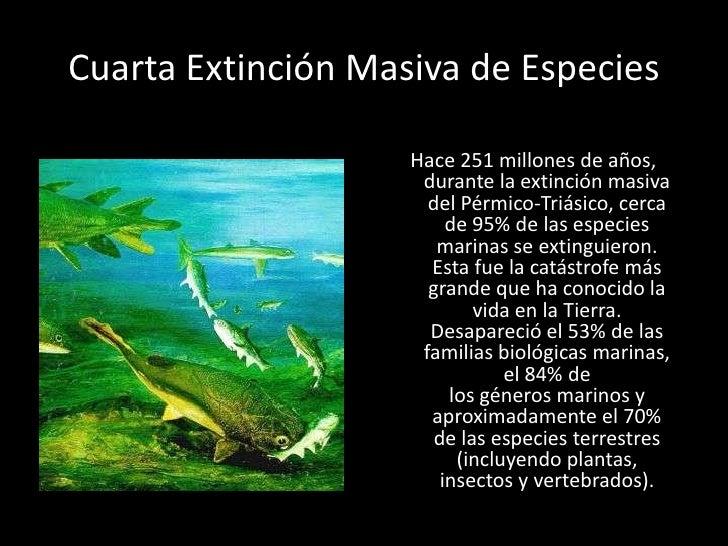 Resultado de imagen de extinción del Pérmico-Triásico hace 251 millones de años