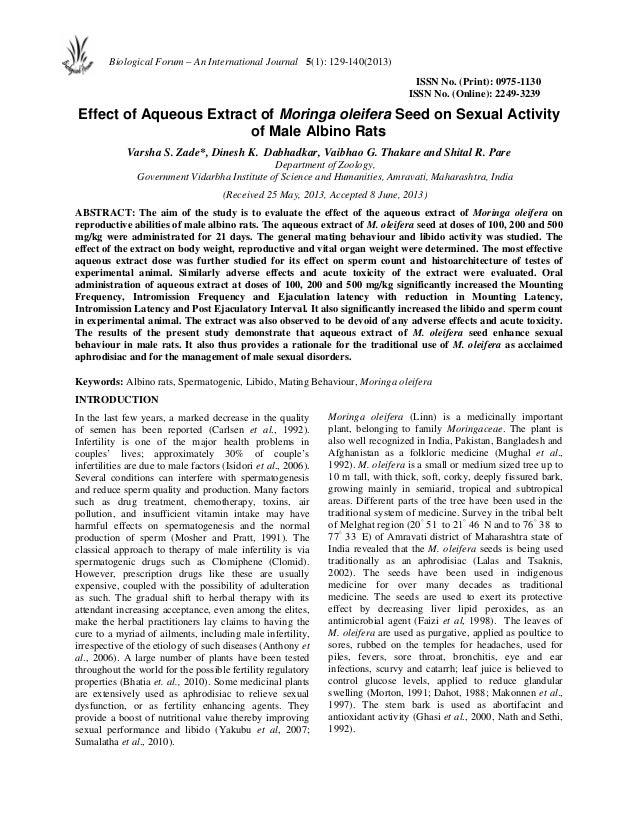 Sexual activity-moringa-oleifera-seeds