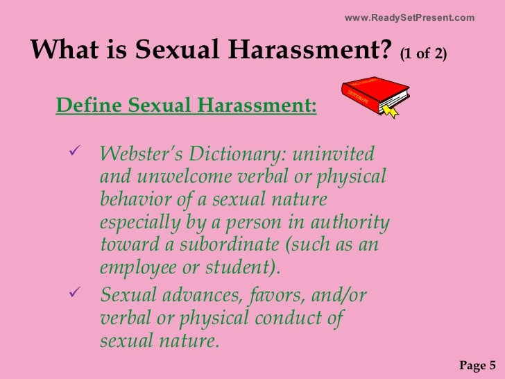 What is sexual advances