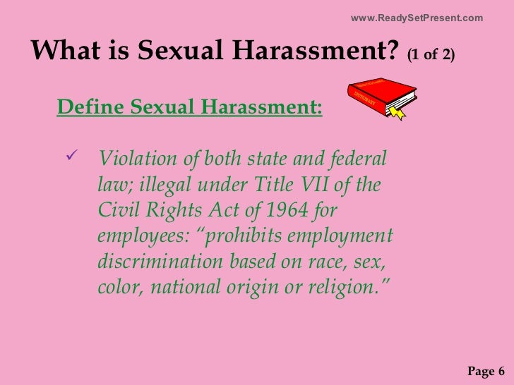 What is the definition of sexual harassment under title vii