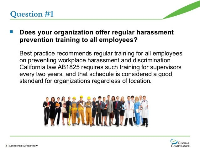 Sexual harassment training california managers