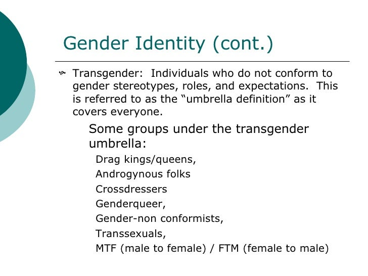 Gender and sexual orientation identity